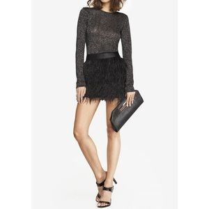Ostrich feather mini skirt